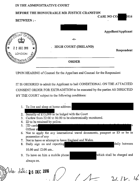 order-bail